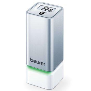 Цифров термо-хигрометър Beurer HM 55, измерва температура и влажност, индикация за качеството на температурата и влажността в помещението, бял image