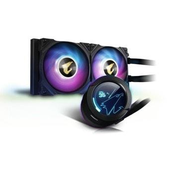 Водно охлаждане за процесор Gigabyte AORUS WATERFORCE X 240, съвместимо с LGA 1700/1200/1150/1151/1155/1156/1366/2011/2066 & AMD AM4/sTRX4/TR4 image