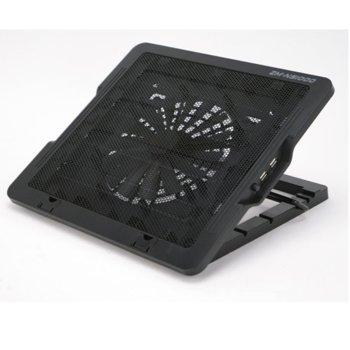"""Охлаждаща поставка за лаптоп Zalman NS1000, за лаптопи до 15.6""""(39.62 cm), черна image"""