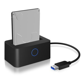 """Докинг станция Raidsonic IB-2501U3, за 2x 2.5"""" HDD/SSD твърди дискове, USB 3.0 Type A, черна image"""
