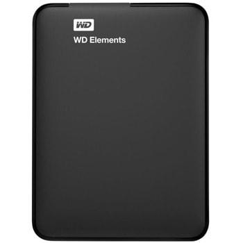 """Твърд диск 3TB Western Digital Elements (черен), външен, 2.5"""" (6.35 cm), USB 3.0 image"""