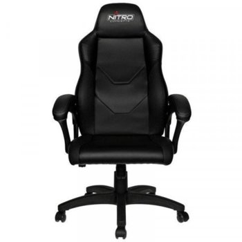 Геймърски стол Nitro Concepts C100, еко кожа, газов амортисьор, до 120кг., черен image
