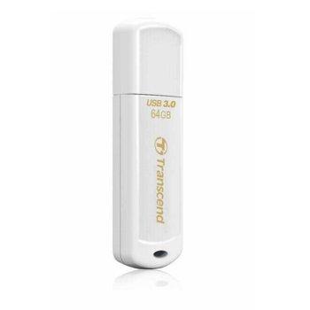 Памет 64GB USB Flash Drive, Transcend JetFlash 730, USB 3.0, бяла image