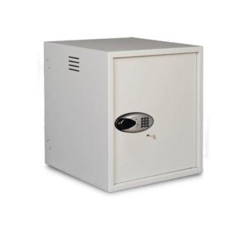 "Комуникационен шкаф Lande LN-AV-07U6060-LG-2, 19"" (48.26 cm), 7U, 600 x 600 mm, антивандал ел.ключалка, бял image"