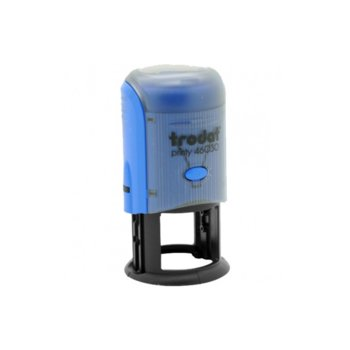 Автоматичен печат Trodat 4630 син, Ф30 mm, кръгъл image
