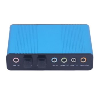 Външна звукова карта Estillo 5.1 Channel Audio Box, 5.1, USB, SPDIF IN & SPDIF OUT image