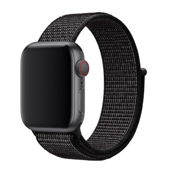 Каишка за смарт часовник Apple Watch (40mm) Nike Band: Black Nike Sport Loop, черен image