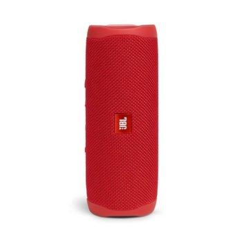 Тонколона JBL Flip 5 RED, 1.0, 20W RMS, USB, Bluetooth, RED, влагоустойчива (IPX7) image