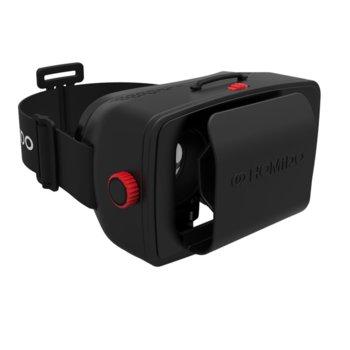 """Очила за виртуална реалност Homido, 100° зрителен ъгъл, съвместим с смартфони от 4.5"""" до 5.7"""" инча, 3D ефект, черни image"""
