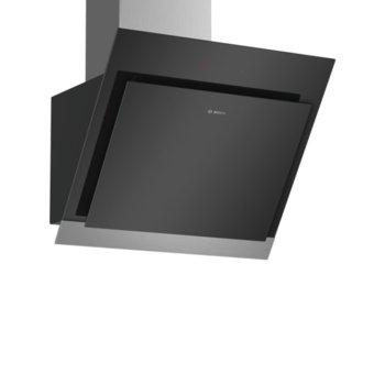 Абсорбатор BOSCH DWK67HM60, свободностоящ, колонен енергиен клас А, въздухопоток 660 m³/h, 1 мотор 2 зони на засмукване, 3 степени на мощност, черен image