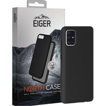 Калъф за Samsung Galaxy A51, хибриден удароустойчив кейс, Eiger North Case, Shock Absorbent, черен image