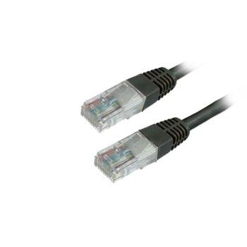 Пач кабел MediaRange MRCS119, UTP, CAT 6, 1m, черен image