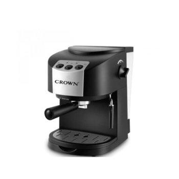 Ръчна еспресо кафемашина Crown CEM-1510, 1050 W, 15 bar, 1.8 л. резервоар, крема диск, защита от прегряване, черна image