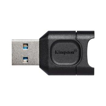 Четец за карти Kingston MobileLite Plus, USB 3.2, micro SD/micro SDXC/micro SDHC, черен image