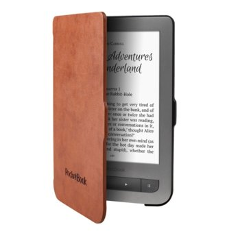 Калъф за електронна книга, Pocketbook JPB626(2)-LB-P, за Basic 3, Basic Lux, Basic Touch 2, Touch Lux 3, кафяв image