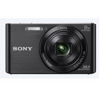 "Фотоапарат Sony Cyber Shot DSC-W830 (черен), 8xOptical zoom, 20.1Mpix, 2.7"" (6.86cm) екран, SDHC/SDXC, USB image"