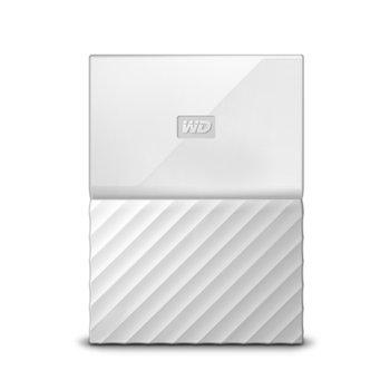 "Твърд диск 2TB Western Digital MyPassport (THIN) (бял), 2.5"" (6.35 cm), USB 3.0 image"