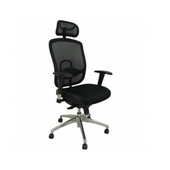 Директорски стол Baristo HR Chrome, черен image