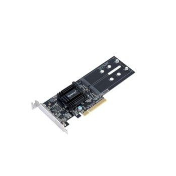 Контролер Synology M2D18, от PCIe 2.0 x8 към 2x M.2 NVMe 2280/22110 image