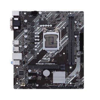 Дънна платка Asus PRIME H410M-K, H410, LGA1200, PCI-E 3.0 (VGA&DVI-D), 4x SATA3, 2x USB 3.2 Gen 1, mATX image
