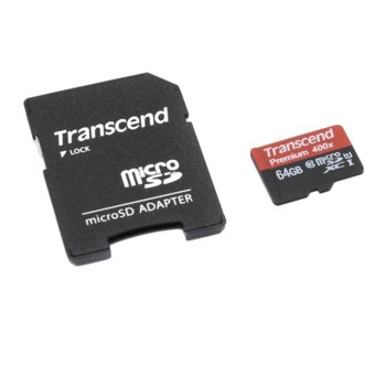 64GB microSDXC Transcend Premium 400x TS64GUSDU1 product
