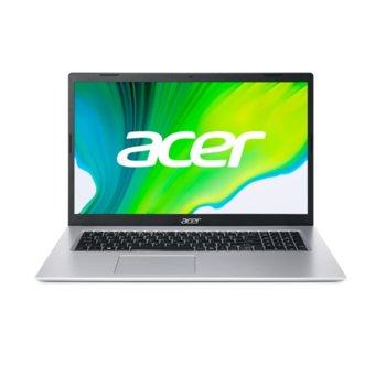 "Лаптоп Acer Aspire 3 A317-33 (NX.A6TEX.005-8GB)(сребрист), четириядрен Jasper Lake Intel Celeron N5100 1.1/2.8 GHz, 17.3"" (43.94 cm) HD+ Anti-Glare Display, (HDMI), 8GB DDR4, 256GB SSD, 1x USB 3.1, No OS image"