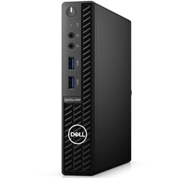 Настолен компютър Dell OptiPlex 3080 MFF (N206O3080MFF), четириядрен Comet Lake Intel Core i3-10105T 3.0/3.9 GHz, 4GB DDR4, 128GB SSD, 4x USB 3.2, Windows 10 Pro image