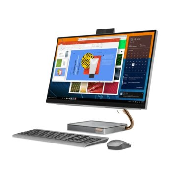 "All In One компютър Lenovo Ideacentre A540-27ICB (F0EK002PRI), шестядрен Coffee Lake Intel Core i5-9400T 1.8/3.4 GHz, 27"" (68.58 cm) QHD IPS Display & Radeon RX 560X 4GB, 8GB DDR4, 512GB SSD, 2x USB 3.1, клавиатура и мишка, No OS  image"