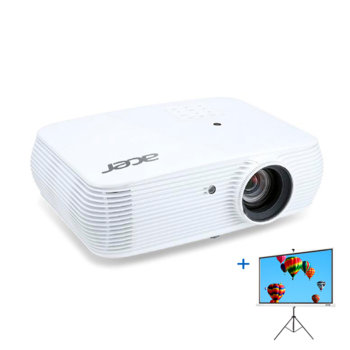 "Проектор Acer P5530 в комплект с екран Acer T82-W01MW 82.5""(209.55 cm), DLP, Full HD (1920x1080), 20 000:1, 4000 lm, 2x HDMI, 2x VGA, 1x USB A, RJ-45, RS-232 image"