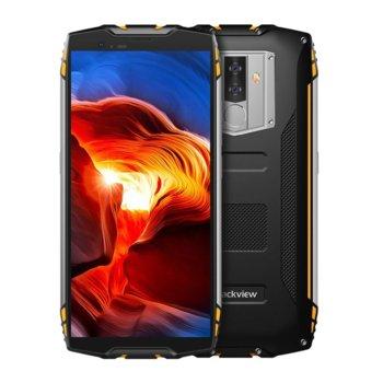 """Смартфон Xiaomi Blackview BV6800 Pro (черен/жълт), поддържа 2 sim карти, 5.7""""(14.48 cm) Full HD+ IPS дисплей, осемядрен Mediatek MT6750T 1.5 GHz, 4GB RAM, 64GB Flash памет (+ microSD слот), 12 MPix + 12 MPix & 8 MPix камера, Android, 275 g image"""