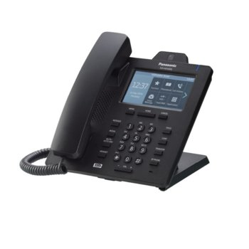 "VoIP телефон Panasonic KX-HDV430, 4.3"" (10.92 cm) цветен LCD сензорен дисплей, Bluetooth 2.1, 16 линии, PoE, 2x LAN1000, HD Voice, връзка с IP камера, черен image"