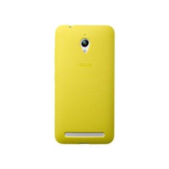 Калъф за Asus ZenFone Go, страничен протектор с гръб, поликарбонатов, Asus Bumper ZC500TG, жълт image