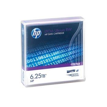 Касета за запис на данни HP C7976A. LTO-6 Ultrium. 12.65 mm/846 m, 6.25TB MP RW image