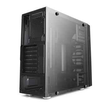 Кутия Delux F900, ATX/Micro ATX/Mini ITX, с прозорец, черна, без захранване image