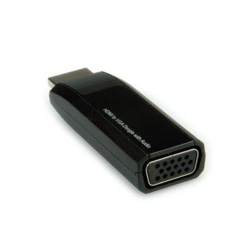 Конвертор ROLINE 12.03.3117, от HDMI(м) към VGA(F), черен image