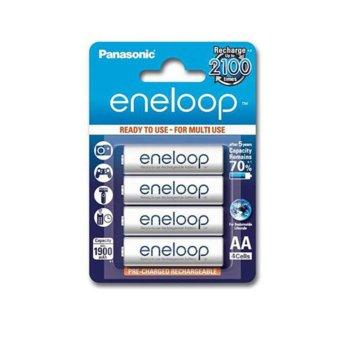 Батерии Panasonic Eneloop, AA, 1900mAh, 1.2V, Ni-MH, 4 бр. image