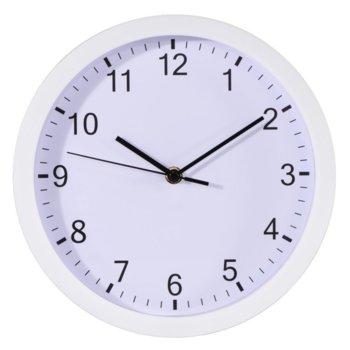 Часовник Hama Plus 186341, аналогово указание, кварцов механизъм, бял image