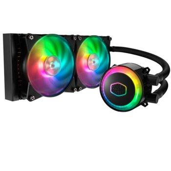 Водно охлаждане за процесор CoolerMaster MasterLiquid ML240R RGB, съвместимост с LGA 2066/2011-v3/2011/1151/1150/1155/1156/1366/775 & AMD AM4/AM3(+)/AM2(+)/FM2(+)/FM1 image