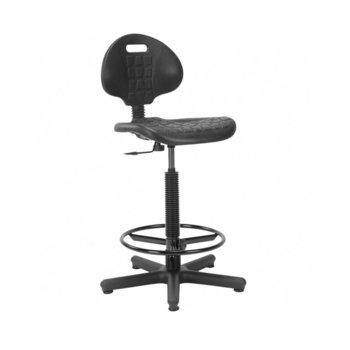 Офис стол NS GTS NARGO RING BASE, полиуретан, регулиране на височина, заключващ механизъм, черен image