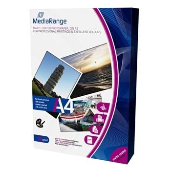 Фотохартия MEDIARANGE MATTE, A4, гланцирана, 120 g/m2, 100 листа image