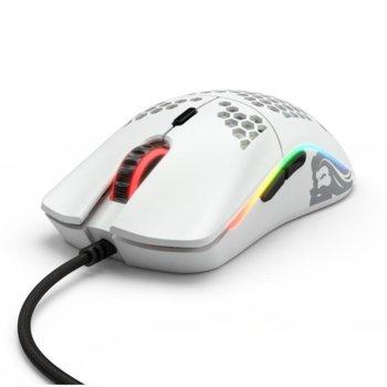 Мишка Glorious Odin O, оптична (12 000dpi), USB, матирано бяла, геймърска, подсветка image