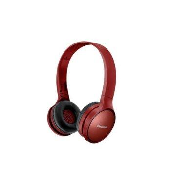 Слушалки Panasonic RP-HF410BE-R, безжични, Bluetooth, микрофон, олекотен дизайн, до 24 часа време на работа, червени image