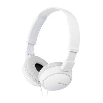 Слушалки Sony MDR-ZX110AP, бели image