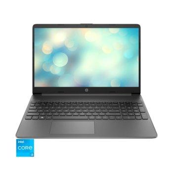 "Лаптоп HP 15s-fq2023nq (2L9X4EA)(сив), двуядрен Tiger Lake Intel Core i3-1115G4 4.1 GHz, 15.6"" (39.62 cm) Full HD IPS Anti-Glare Display (HDMI), 8GB DDR4, 512GB SSD, USB type C, Free DOS, 1.69 kg. image"