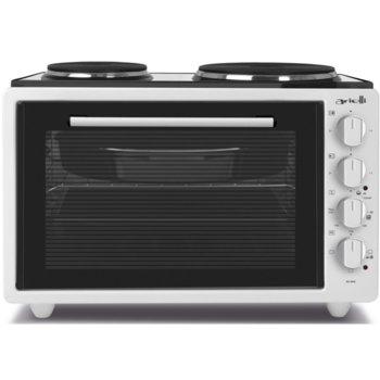 Готварска печка Arielli AO-3642, 2 броя нагревателни зони, 42 л. обем на фурната, 3 броя функции, бяла image