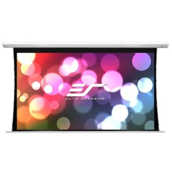 "Екран Elite Screens Saker SK110XHW-E12, за стена, White, 2438 x 1372 мм, 110"" (279.4 cm), 16:9 image"