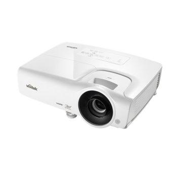 Проектор Vivitek DH268, DLP, 3D Ready, Full HD (1920x1080), 15000:1, 3500 lm, 2x HDMI, 2x VGA, USB, бял image