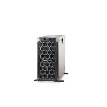 Сървър Dell PowerEdge T340 (PET340CEE01), четириядрен Coffee Lake Intel Xeon E-2134 3.5/4.5 GHz, 8GB DDR4 ECC UDIMM, 2x 1TB HDD, 2x 1GbE LOM, 2x USB 3.0, без ОС, 1x 495W image