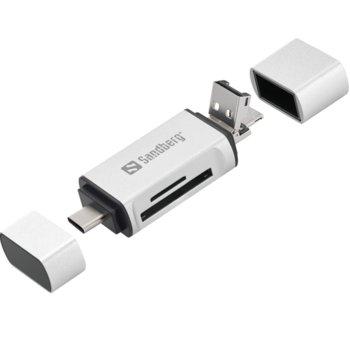 Четец за карти Sandberg USB C USB A  product