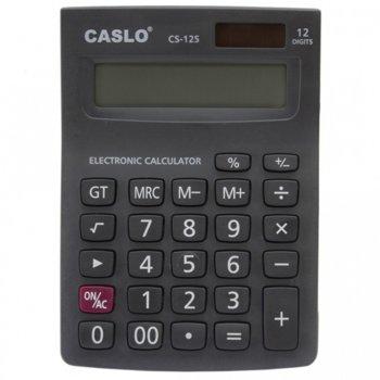 Калкулатор Caslo CS-12S, LCD дисплей, черен image